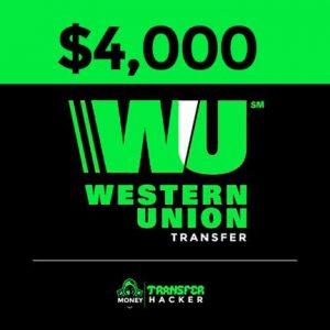 $4000 Western Union Transfer