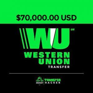 $70,000 USD Western Union Transfer