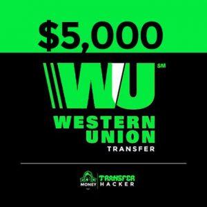 $5,000 USD Western Union Transfer
