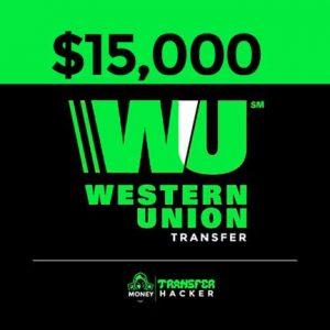 $15,000 USD Western Union Transfer