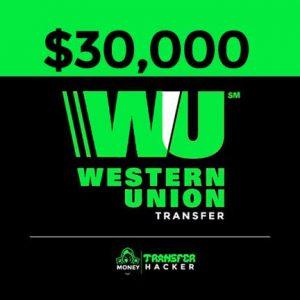 $30,000 USD Western Union Transfer