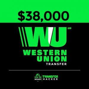 $38,000 USD Western Union Transfer