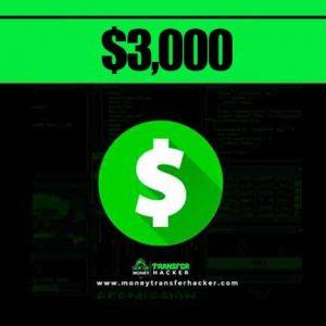 $3,000 Cash App Transfer