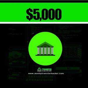 $5,000 USD Bank Transfer Hack