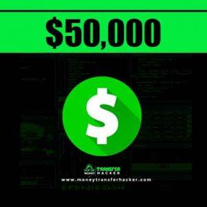 $50,000 Cash App Transfer