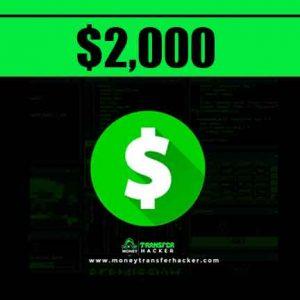 $2,000 Cash App Transfer