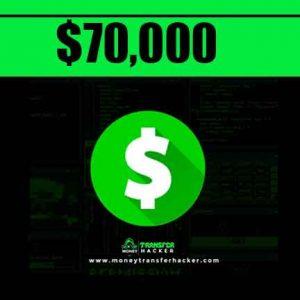 $70,000 Cash App Transfer