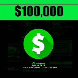 $100,000 Cash App Transfer